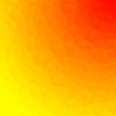 Abstract polygon background with colors of sun. Pattern composed of triangles.