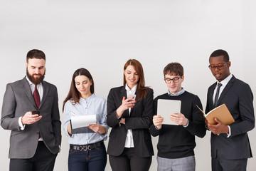 Business people teamwork crop, copy space
