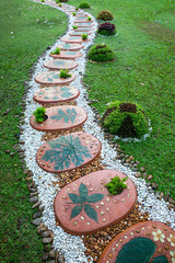 Decorate the path in the park.