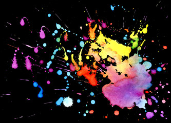 Bright watercolor spot. Abstract background. Bright watercolor slash. Watercolor background.