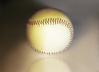 close up.Baseball ball .photo with copy space