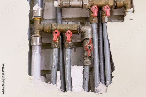 Fantastic Water Pipes From Metal In The Wall Plumbing In The House Download Free Architecture Designs Scobabritishbridgeorg