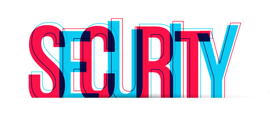Security word vector. Isolated on white background.
