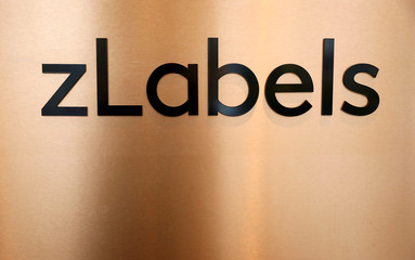 The logo of zLabels part of fashion retailer Zalando is pictured in an office building in Berlin