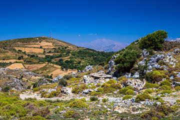 Beautiful mountain landscape of Crete. Greece