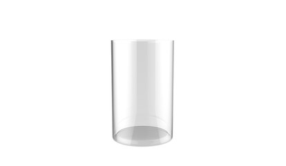 3d illustration of decorative cylinder glass vase isolated on a white background