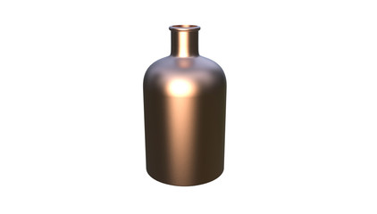 3d illustration of decorative bottle isolated on a white background
