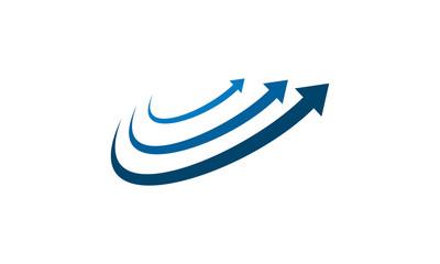abstract arrow logo