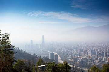 Heavy smog over Santiago de Chile