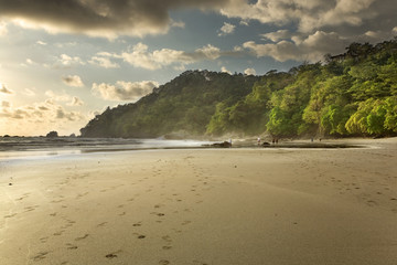 Afternoon Sunshine over Costa Rica Beach, at Manuel Antonio National Park