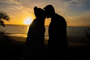 Por do sol romântico