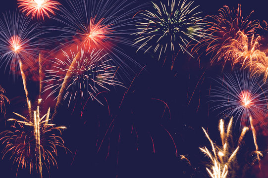 fireworks abstract background for celebration