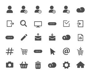 Obraz Account web icons. Ui elements. Account vector icons for web, mobile and ui design - fototapety do salonu