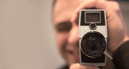 An old analog camera.