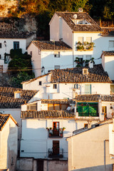 Front view of the amazing town of Baeza in Jaen, Spain