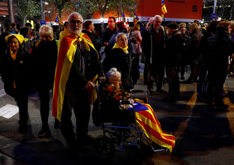 Protest against Spain's cabinet meeting in Barcelona