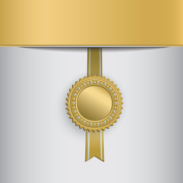 Gold award badge