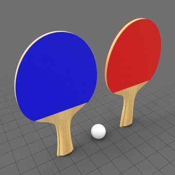Ping pong paddles set