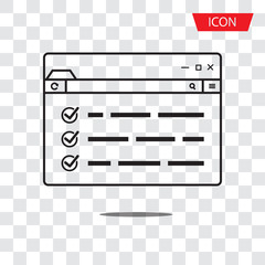 web page browser icon vector isolated on white background