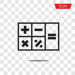 Calculator icon vector isolated on white background