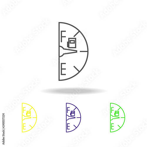 fuel gauge colored icon  Can be used for web, logo, mobile