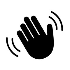 Hand hello wave sign