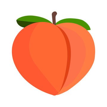 Peach emoji vector