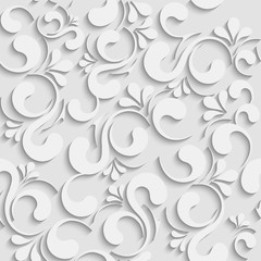 3d seamless floral background