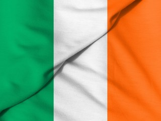 Waving flag: flag of Ireland