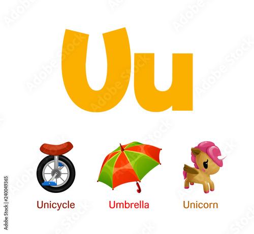 """Cute children ABC animal alphabet flashcard words with ..."