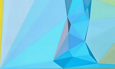 Abstract polygonal background. Triangles texture. Geometric modern art. Futuristic simple painting on canvas. Pattern for design. Backdrop template. Low poly concept artwork. Decorative elements.