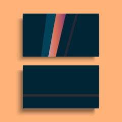 design of business visiting cards. Vector template in modern geometric style. Clean corporate identity mockups