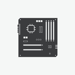 Computer Motherboard Vector Icon