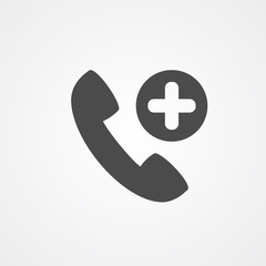 Emergency call vector icon sign symbol