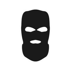 Thief mask. Simple vector bandit head. - fototapety na wymiar