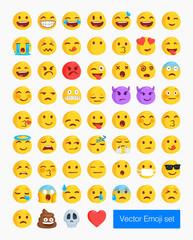 Vector emoticon set. Emoji collection