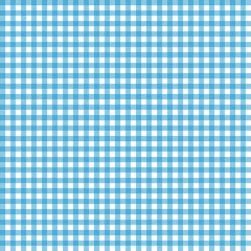 Smooth Gingham Seamless Pattern - Smooth light blue and white classic gingham texture