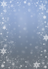 Blue Winter Background with snowflakes for your own creations