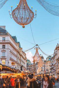 City scene of streets of Vienna - Am Graben