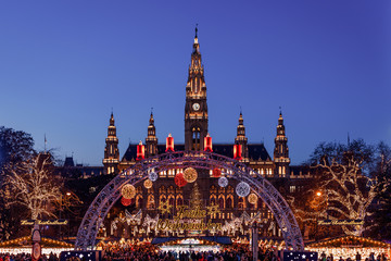 Christmas market at Vienna City Hall