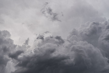 Image of dark storm clouds before a thunder-storm