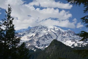 Rainier and Olympic Mountains