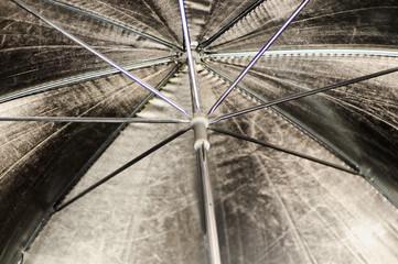 photographic silver umbrella on reflection