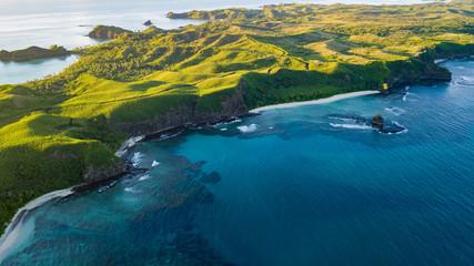 Obraz Fiji Island Beauty by drone - fototapety do salonu