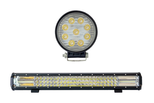 LED light bar for off road isolated on white background.
