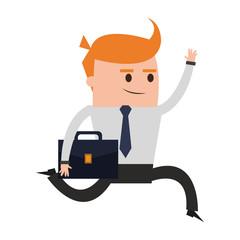 Businessman successful cartoon