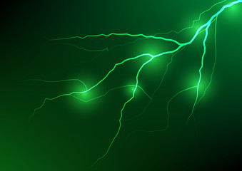 Abstract green lightning effect background