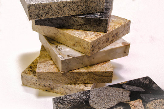 Colorful counter tops made from granite, marble, and granite stone