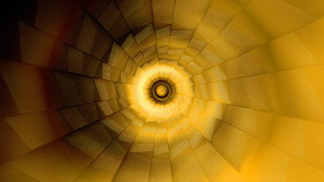 Dynamic orange vortex twirl futuristic background