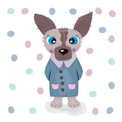 Cute cartoon dog character